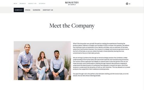 About the Company, History, People | Ministry of Supply