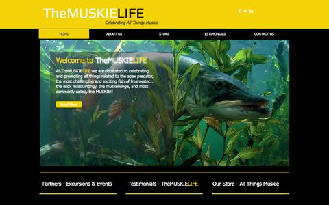 Screenshot of Home Page themuskielife.com - Muskie Fish - Muskie Fishing Tips | TheMuskieLife - captured Sept. 30, 2014
