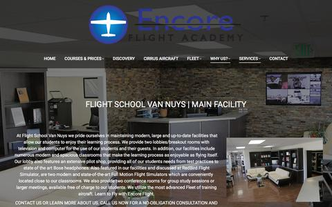 Screenshot of Services Page encoreflight.com - Encore Flight Academy Van Nuys Los Angeles - captured Aug. 7, 2017