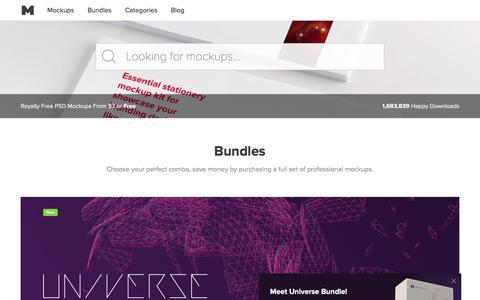 Screenshot of Home Page originalmockups.com - Original Mockups – Designing Mockups People Love - captured July 14, 2017