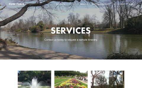 Screenshot of Services Page pure-paris.net - Services — Pure Paris - captured July 9, 2018