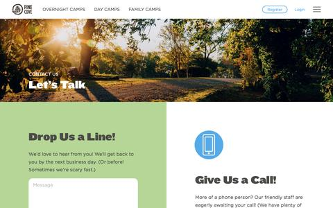 Screenshot of Contact Page pinecove.com - Contact Us - Pine Cove - captured May 4, 2017