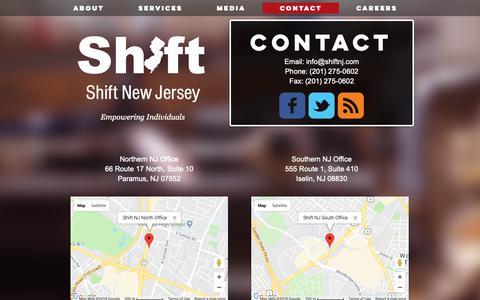 Screenshot of Contact Page shifttransition.com - Contact - captured Nov. 7, 2018