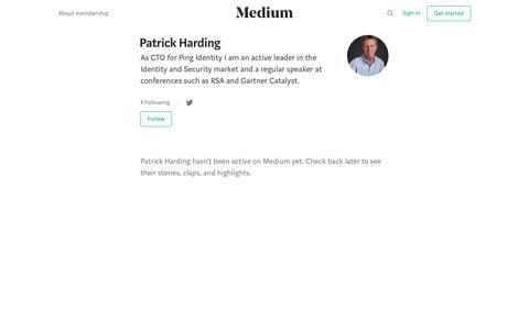 Patrick Harding – Medium