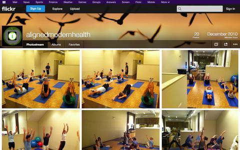 Screenshot of Flickr Page flickr.com - Flickr: alignedmodernhealth's Photostream - captured Oct. 23, 2014