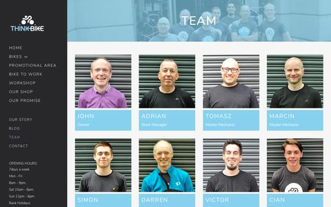 Screenshot of Team Page thinkbike.ie - Bicycle Shop - Bike Repair - Custome Built Bikes - Kids Bikes - captured Oct. 18, 2018