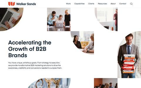 Screenshot of Home Page walkersands.com - Walker Sands | B2B Integrated Marketing Agency - captured Sept. 11, 2019