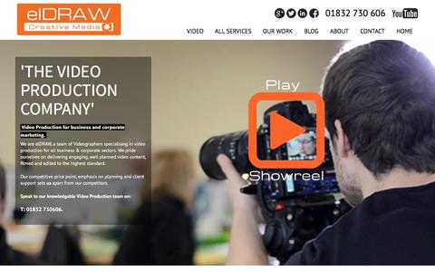 Screenshot of Home Page eldraw.co.uk - Video Production, Corporate Video and Business Video in Northampton | elDRAW - captured Feb. 2, 2016