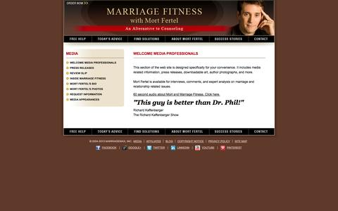 Screenshot of Press Page marriagemax.com - Marriage Max & Mort Fertel Media Guide - captured Oct. 27, 2014
