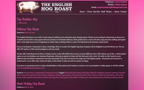 Screenshot of Blog theenglishhogroastcompany.co.uk - blog | English Hog Roast Company - captured Aug. 14, 2016