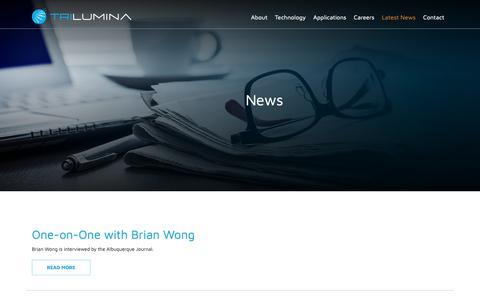 Screenshot of Press Page trilumina.com - News | TriLumina - captured Oct. 19, 2018
