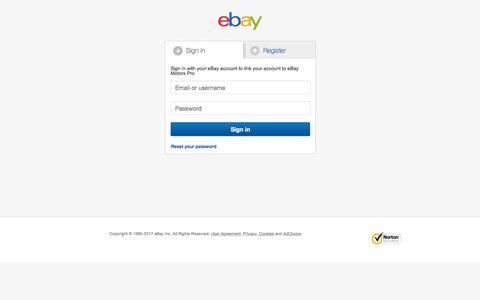 Screenshot of Login Page ebay.co.uk - Sign in or Register | eBay - captured Nov. 18, 2017