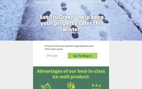 Screenshot of Landing Page trugreen.com - TruGreen | Live life outside. - captured April 19, 2018