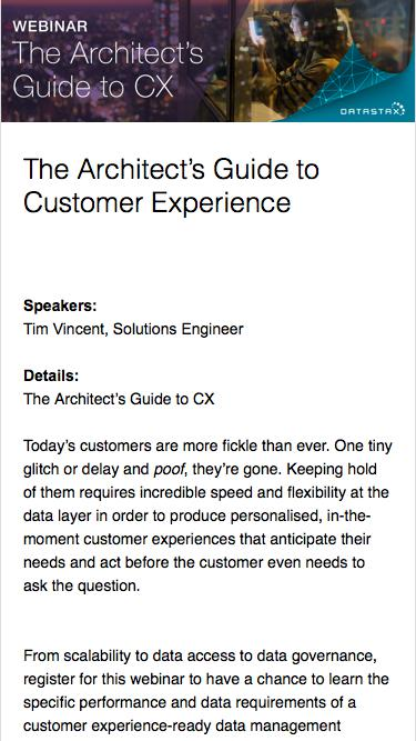 The Architect's Guide to CX