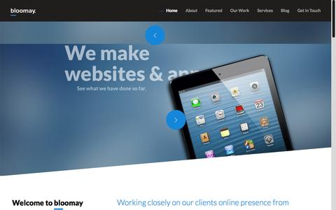 Screenshot of Home Page bloomay.com - Bloomay | The Creative Agency | - captured Jan. 24, 2015
