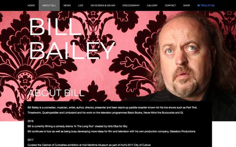Screenshot of FAQ Page billbailey.co.uk - About Bill | Bill Bailey - captured Jan. 27, 2018