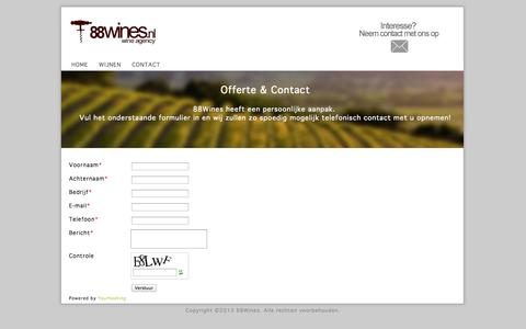 Screenshot of Contact Page 88wines.nl - 88Wines.nl | Wine Agency - captured Oct. 1, 2014