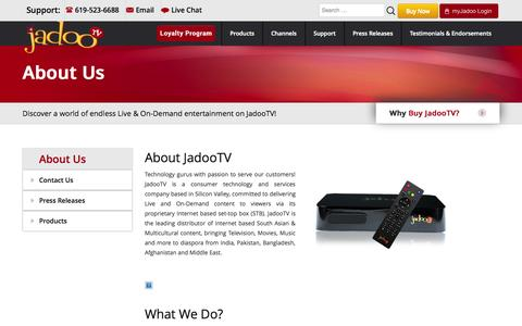 About Us – OFFICIAL JadooTV Website