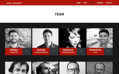 Screenshot of Team Page tempoautomation.com - Team | Tempo Automation - captured Oct. 26, 2014