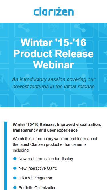 Winter '15-'16 Product Release Webinar