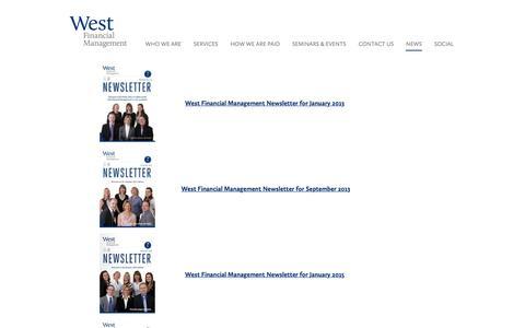 Screenshot of Press Page westfm.biz - News   West Financial Management - captured Sept. 27, 2016