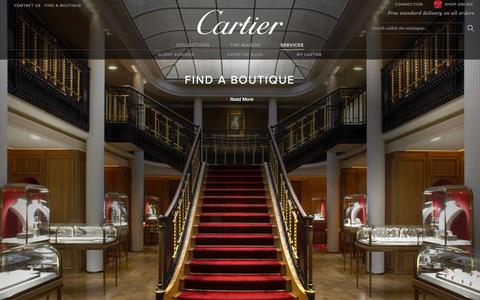 Screenshot of Services Page cartier.co.uk - Cartier Customer Services - Fine Jeweller, Luxury Watchmaker, Bridal and Luxury Leather Goods - captured Nov. 3, 2014