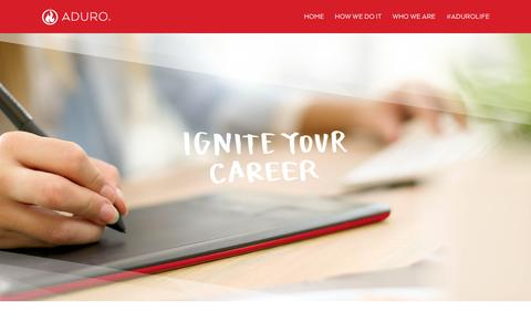 Screenshot of Jobs Page adurolife.com - Careers - ADURO - captured Aug. 5, 2015