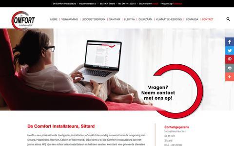 Screenshot of Contact Page decomfortinstallateurs.nl - Neem contact met op met De Comfort Installateurs uit Sittard - captured Nov. 24, 2016