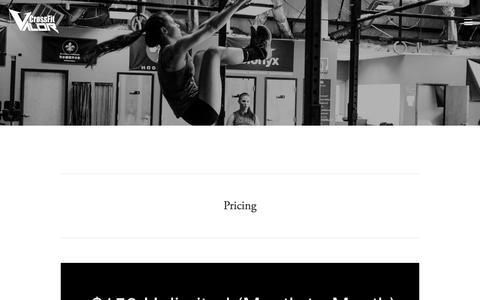 Screenshot of Pricing Page crossfitvalor.com - Pricing — CrossFit Valor - captured July 11, 2018
