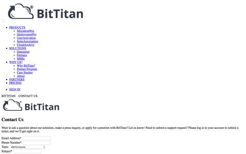 BitTitan - Making IT Change Automation Possible