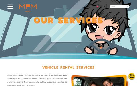 Screenshot of Services Page mpm-rent.com - Our Services | MPM Rent, We Serve You Better - captured Sept. 26, 2018
