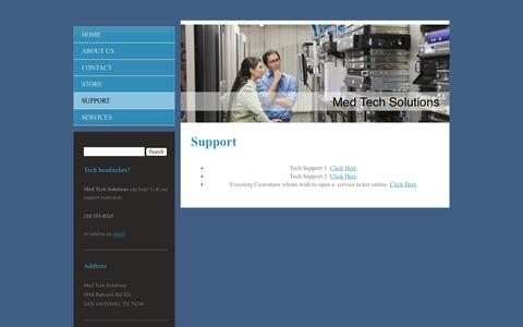 Screenshot of Support Page mtsit.net - Med Tech Solutions - Support - captured Feb. 12, 2016
