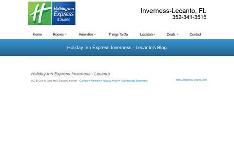 Screenshot of Blog invernessflhotel.com - Holiday Inn Express Inverness - Lecanto BLOG - captured Aug. 22, 2017