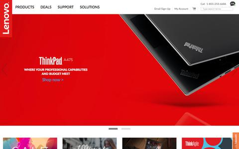 Screenshot of Support Page lenovo.com - Lenovo Official US Store | Laptops, Tablets, Computers, PCs - captured Oct. 23, 2017