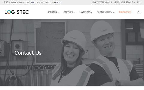 Screenshot of Contact Page logistec.com - Contact Us   Logistec - captured Sept. 29, 2018