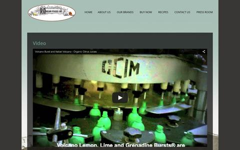 Screenshot of Press Page dreamfoods.com - Press Room – Video | Dream Foods International - captured Feb. 9, 2016