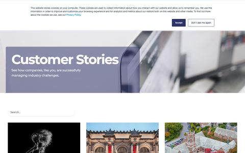 Screenshot of Case Studies Page netx.net - Digital Asset Management Case Studies | NetX - captured Oct. 18, 2018