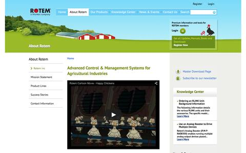 Screenshot of About Page rotem.com - Advanced Control & Management Systems for Agricultural Industries - Rotem - captured Feb. 15, 2016