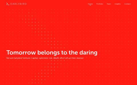 Screenshot of Home Page earlybird.com - Earlybird - captured Dec. 13, 2018