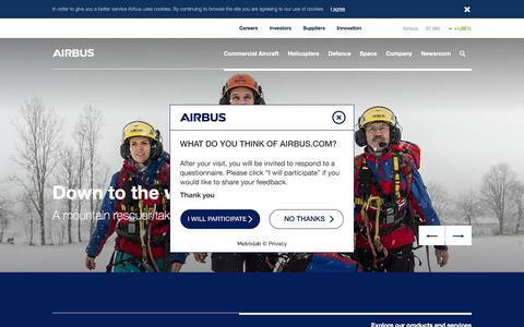 Screenshot of Home Page airbus.com - Airbus Home - captured May 18, 2018