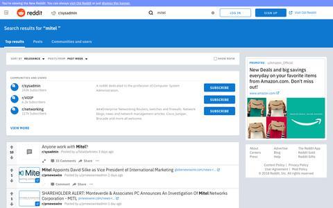 reddit.com: search results - mitel+