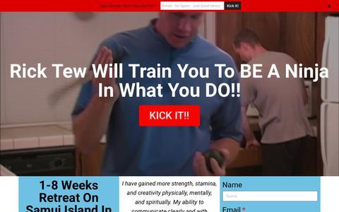 Screenshot of Home Page ninjagym.com - Home - Rick Tew's NinjaGym® - captured June 18, 2017
