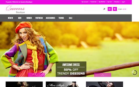 Screenshot of Home Page queens-boutique.co.uk - Home page - captured Sept. 20, 2015