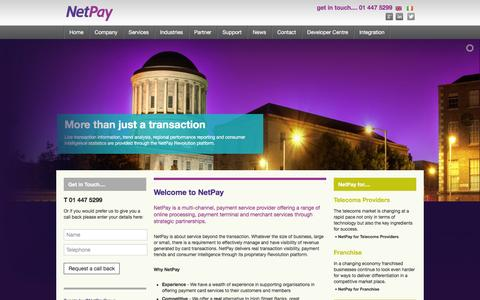 Screenshot of Home Page netpay.ie - NetPay – Wholesale, Reseller and Corporate card payment solutions - captured March 14, 2016