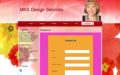 Screenshot of Contact Page mksdesignss.com - Contact us | MKS Design Services - captured Sept. 30, 2017
