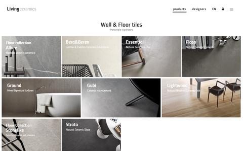 Screenshot of Products Page livingceramics.com - Wall & Floor Tiles - Living Ceramics - captured July 21, 2018