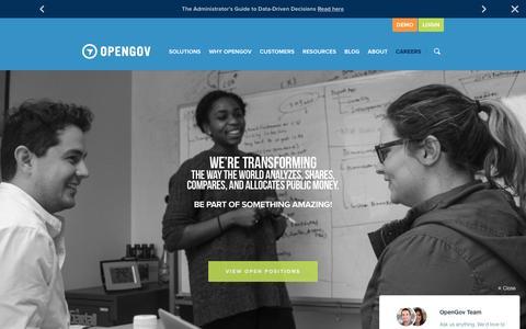Screenshot of Jobs Page opengov.com - Careers at OpenGov - captured Feb. 3, 2016