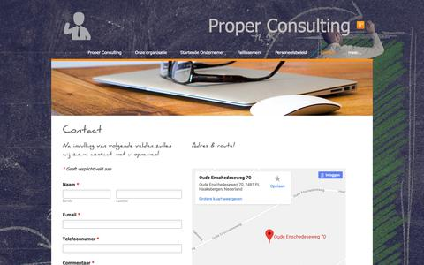 Screenshot of Contact Page weebly.com - Contact - PROPER CONSULTING - captured Nov. 21, 2018