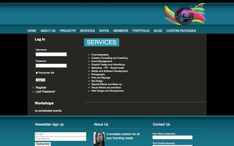 Screenshot of Services Page itog.co.za - Services | ITOG - captured Sept. 30, 2014