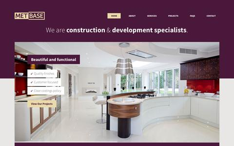 Screenshot of Home Page metbase.co.uk - METBASE - Construction & Development Specialists in London | 020 3475 7578 - captured Jan. 21, 2015